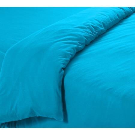 Купить Пододеяльник трикотажный ТексДизайн гладкокрашеный. Цвет: голубой