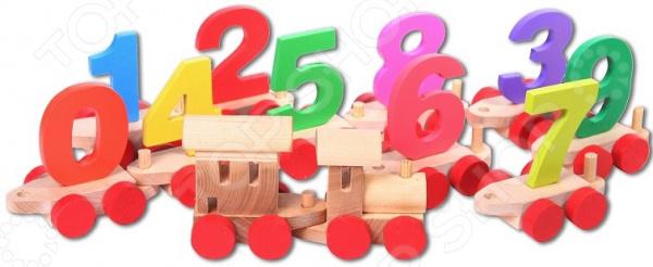 Игрушка деревянная PAREMO «Паровозик с цифрами»