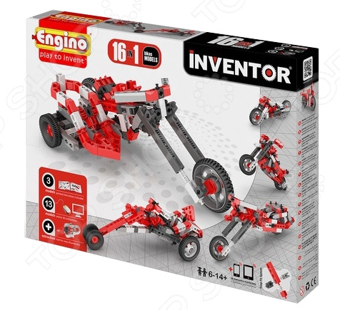 Конструктор-игрушка Engino Pico Builds / INVENTOR PB42 «Мотоциклы» конструкторы engino pico builds inventor мотоциклы 8 в 1