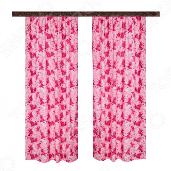 Комплект штор Zlata Korunka «Букет роз»