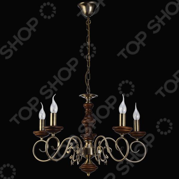 Люстра Natali Kovaltseva Luxury wood 11357/5c Antique, walnut люстра natali kovaltseva luxury wood 10439 6c brass red