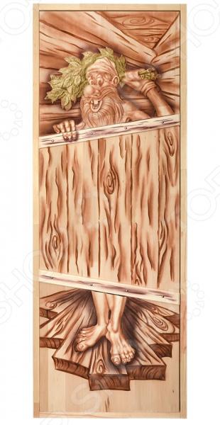 Дверь для бани глухая Банные штучки «Озорной дед» 32703 печь для бани из трубы 530 чертежи горизонтально