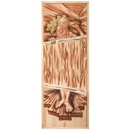 Купить Дверь для бани глухая Банные штучки «Озорной дед» 32703