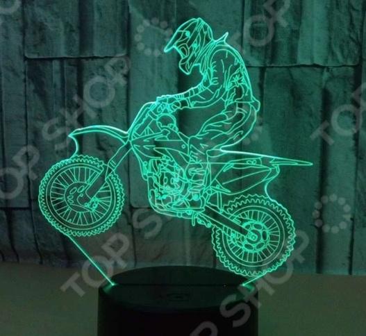 Светильник 3D «Мотоцикл»