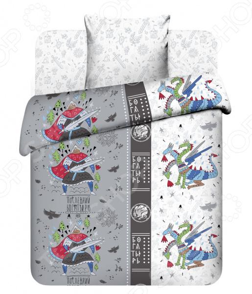 Детский комплект постельного белья Василек «Богатырь» кислотные красители в алматы