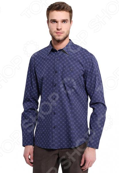 Рубашка Finn Flare B17-42015. Цвет: темно-синий