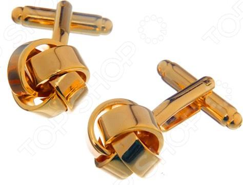 Запонки Mitya Veselkov «Узелки золотые» запонка victor mayer золотые запонки с бриллиантами и эмалью v1256bw