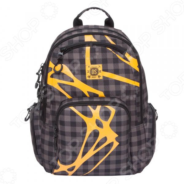 Рюкзак молодежный Grizzly RU-800-1/2 «Клетка»