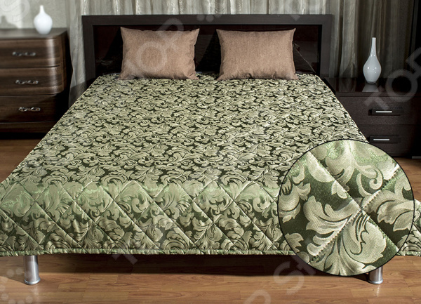 Покрывало стеганое Primavelle Betta 254705. Цвет: темно-зеленый