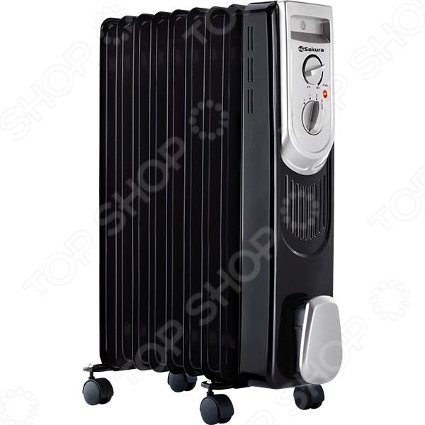 Радиатор масляный Sakura SA-0339B Радиатор масляный Sakura SA-0339B /Черный