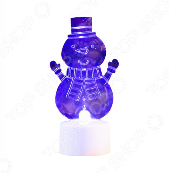 Фигура светодиодная на подставке Neon-Night «Снеговик с шарфом 2D»