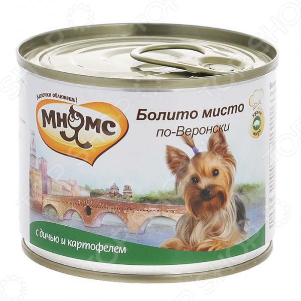 Корм консервированный для собак Мнямс «Болито мисто по-Веронски» с дичью и картофелем