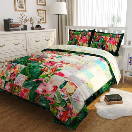 Купить Комплект постельного белья Сирень «Цветочная фантазия». Евро
