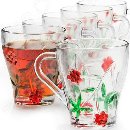 Набор стаканов Loraine LR-2998-243-6 loraine набор стаканов loraine 24689 6 шт ek2pb4n