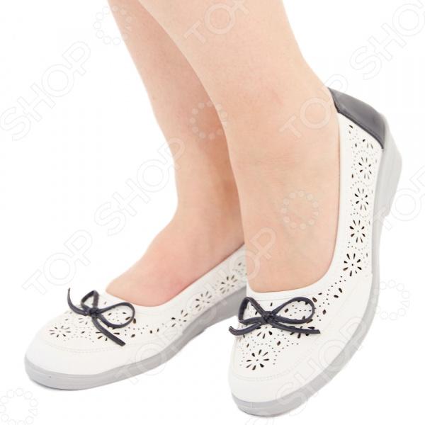 Туфли АЛМИ «Адель». Цвет: белый, синий