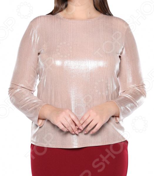 Блуза Blagof «Изысканный блеск». Цвет: пудровый блуза blagof блуза мерси цвет персиковый