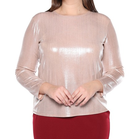 Купить Блуза Blagof «Изысканный блеск». Цвет: пудровый