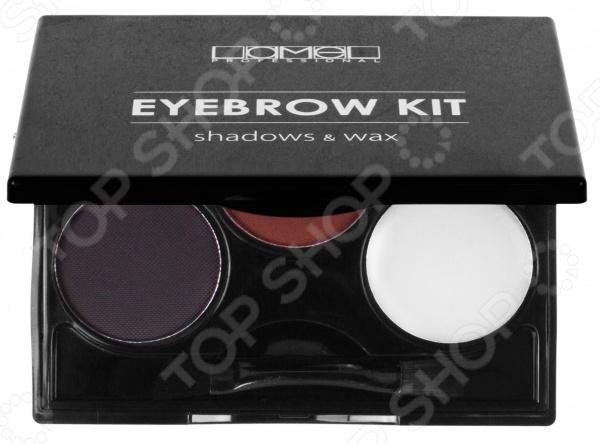 Палетка для бровей Lamel professional Eye Brow Kit набор 331 кисть кабуки professional line палетка face strobing eyelash