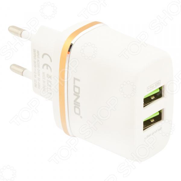 Устройство зарядное сетевое Ldnio Apple 8 pin DL-AC52 сетевое зарядное устройство belkin boost up кабель apple 8 pin белый