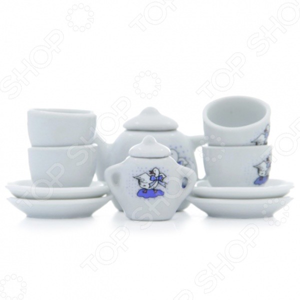 Набор фарфоровой посуды с куклой Shantou Gepai «Уточка» набор посуды shantou gepai набор посуды и продуктов в корзине