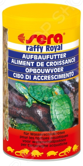Корм для молодых черепах и хищных рыб Sera Raffy Royal корм для рыб sera голди 100мл