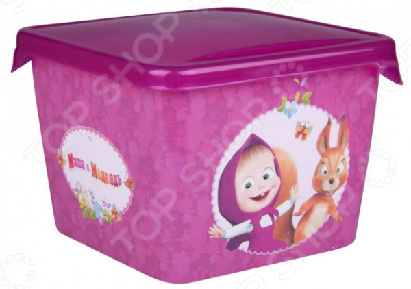 Детская емкость для хранения «Маша и Медведь» 0616006 емкость для хранения маша и медведь mini с крышкой цвет желтый 750 мл