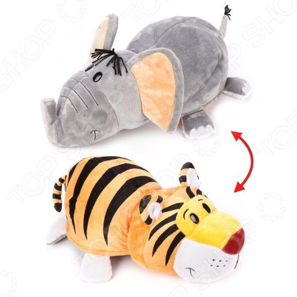 Мягкая игрушка 1 Toy «Вывернушка 2в1: Тигр-Слон» плюшевая игрушка вывернушка слон тигр 35см