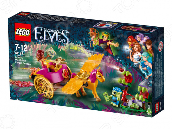 Конструктор игровой LEGO Elves «Побег Азари из леса гоблинов» конструктор lego elves 41186 побег азари из леса гоблинов