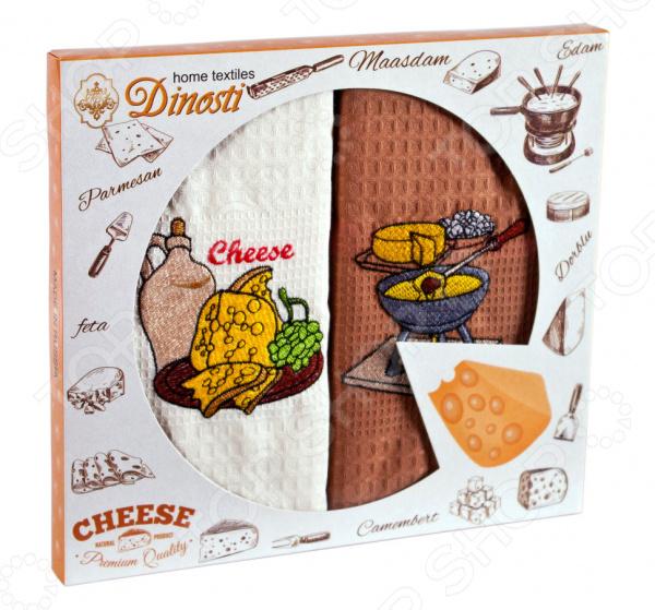 Комплект из 2-х кухонных полотенец Dinosti «Вкусный сыр»