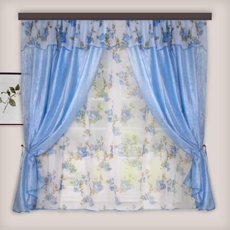 Комплект штор для кухни «Цветочный прованс»