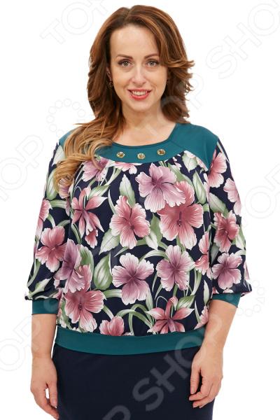 Блуза Лауме-Лайн «Прекрасная орхидея». Цвет: зеленый блуза лауме лайн перелетная птица цвет зеленый