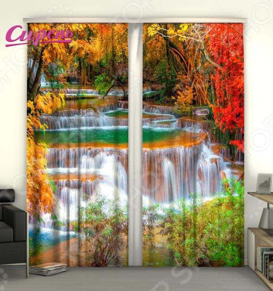 Фотошторы Сирень «Осенний водопад» шторы томдом фотошторы осенний дуб