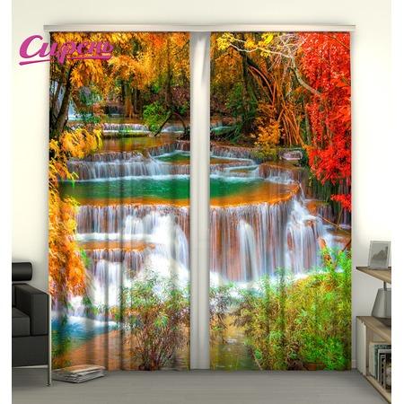 Купить Фотошторы Сирень «Осенний водопад»