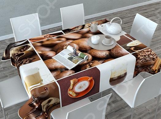 Фотоскатерть Сирень «Кофейная тематика»