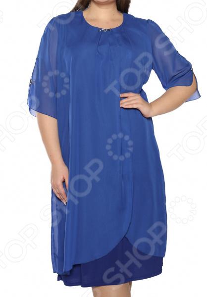 Платье Pretty Woman «Неповторимый образ». Цвет: васильковый платье pretty woman лесная нимфа цвет коралловый