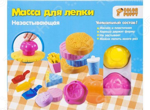 Набор для лепки из массы Color Puppy «Веселое кафе» набор для лепки color puppy спелые