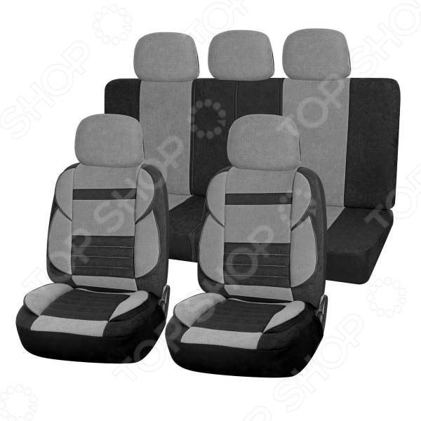 Набор чехлов для сидений SKYWAY Protect 2 «Тонкие полосы» куплю чехлы на авто с орлами