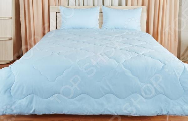 Одеяло Подушкино «Лежебока». Цвет: голубой цена