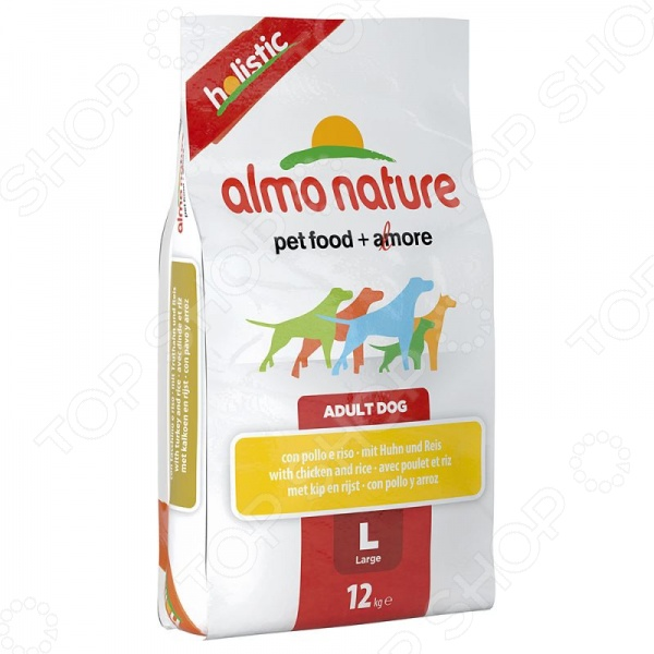 almo nature Holistic Adult Dog with Chicken and Rice 54224