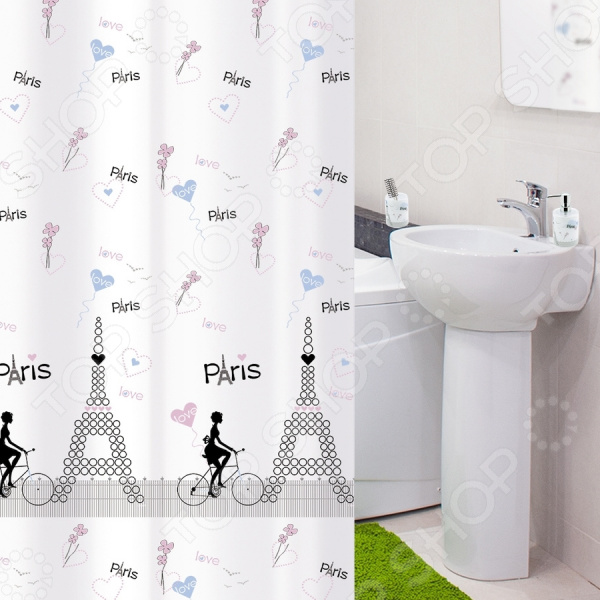 Штора для ванной Tatkraft Paris MademoiselleTextile