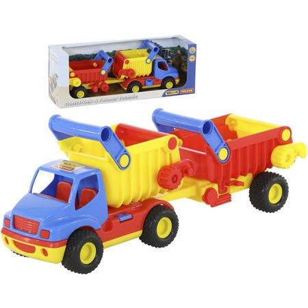 Купить Машинка игрушечная Wader «КонсТрак самосвал с полуприцепом»