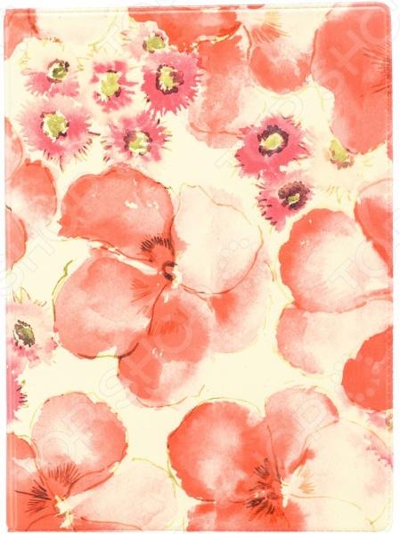 Обложка для автодокументов кожаная Mitya Veselkov «Красные маки»