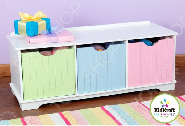 Скамья с ящиками KidKraft Storage Bench Pastel 1