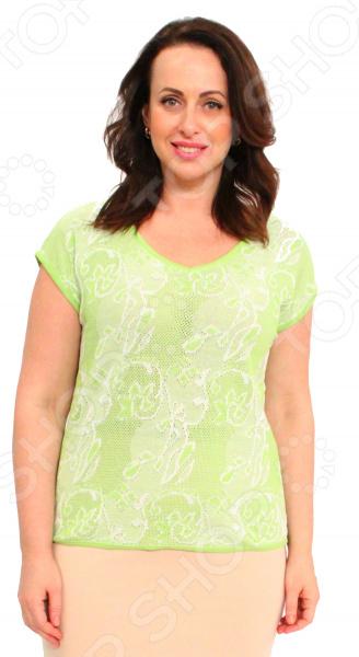 Джемпер Milana Style «Элиона». Цвет: салатовый