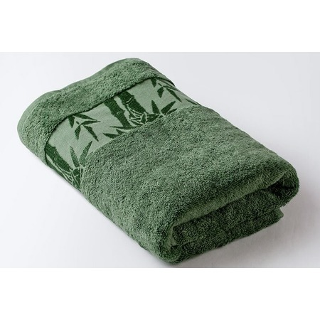 Купить Полотенце махровое Ecotex «Бамбук». Цвет: зеленый