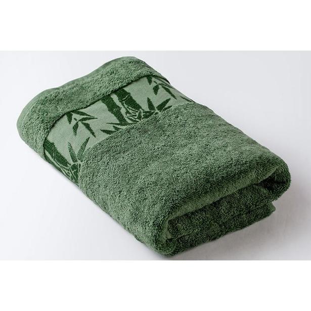 фото Полотенце махровое Ecotex «Бамбук». Цвет: зеленый. Размер полотенца: 90х150 см