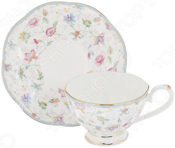 Чайная пара Elan Gallery «Цветочный каприз» elan gallery чайник цветочный каприз