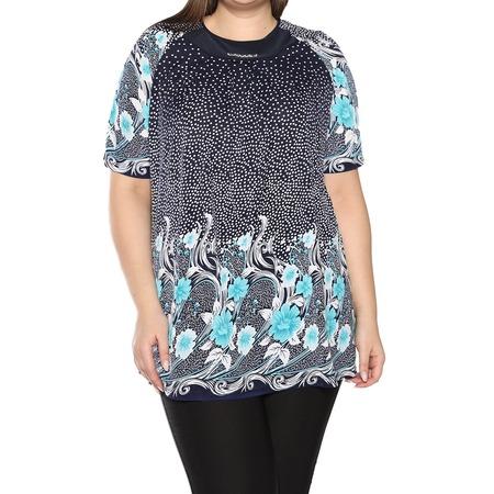 Купить Блуза Лауме-Лайн «Источник красоты». Цвет: бирюзовый