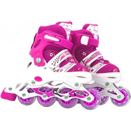 Купить Роликовые коньки детские раздвижные Navigator Power со светящимися колесами. Цвет: розовый