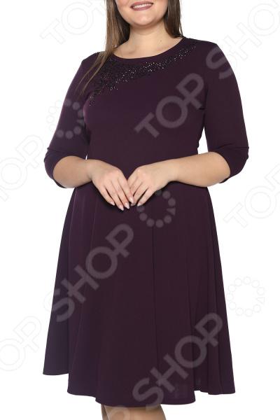 Платье Blagof «Сияние сердца». Цвет: баклажановый